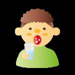 喉が痛い時は、うがいと湿布が効果的